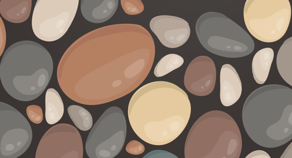 illustration of stones
