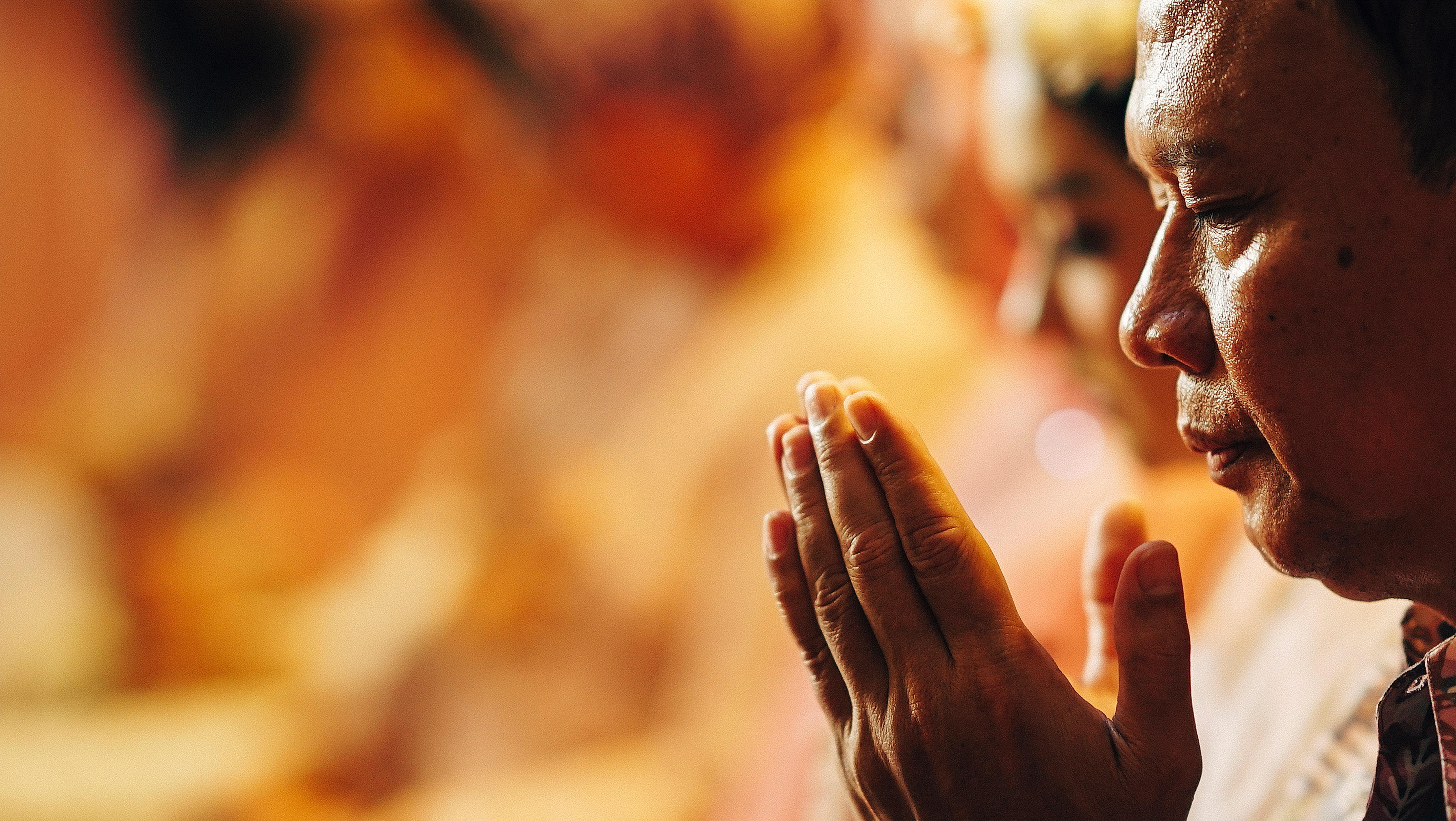 person praying